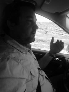 Michael Larner explaining the geology of Ballard Canyon