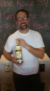 Tercero's Larry Schaffer with his Outlier Gewurztraminer
