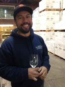 Brander winemaker Fabian Bravo
