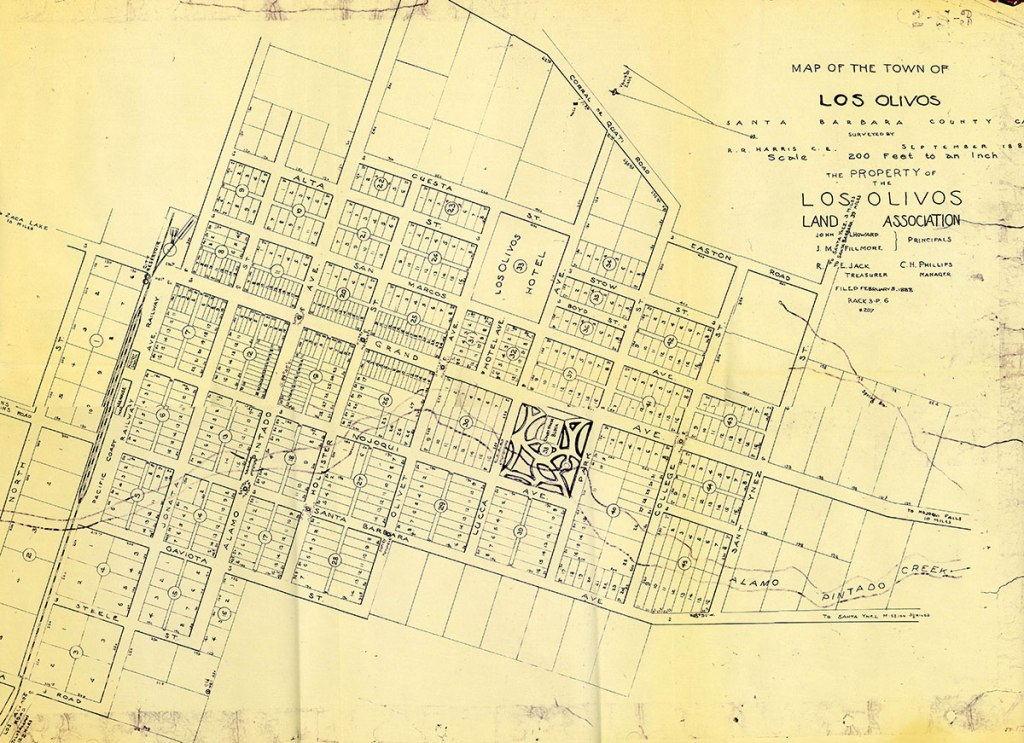 old map of los olivos